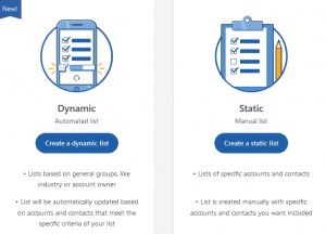 Graphic explaining the difference between dynamic and static lists.